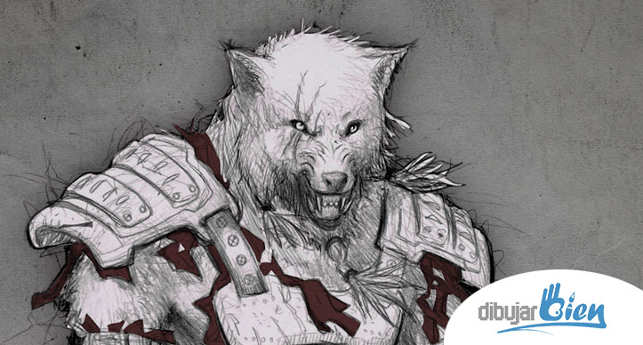 Fenris el Hombre Lobo licántropo. www.DibujarBien.comhttp://www ...